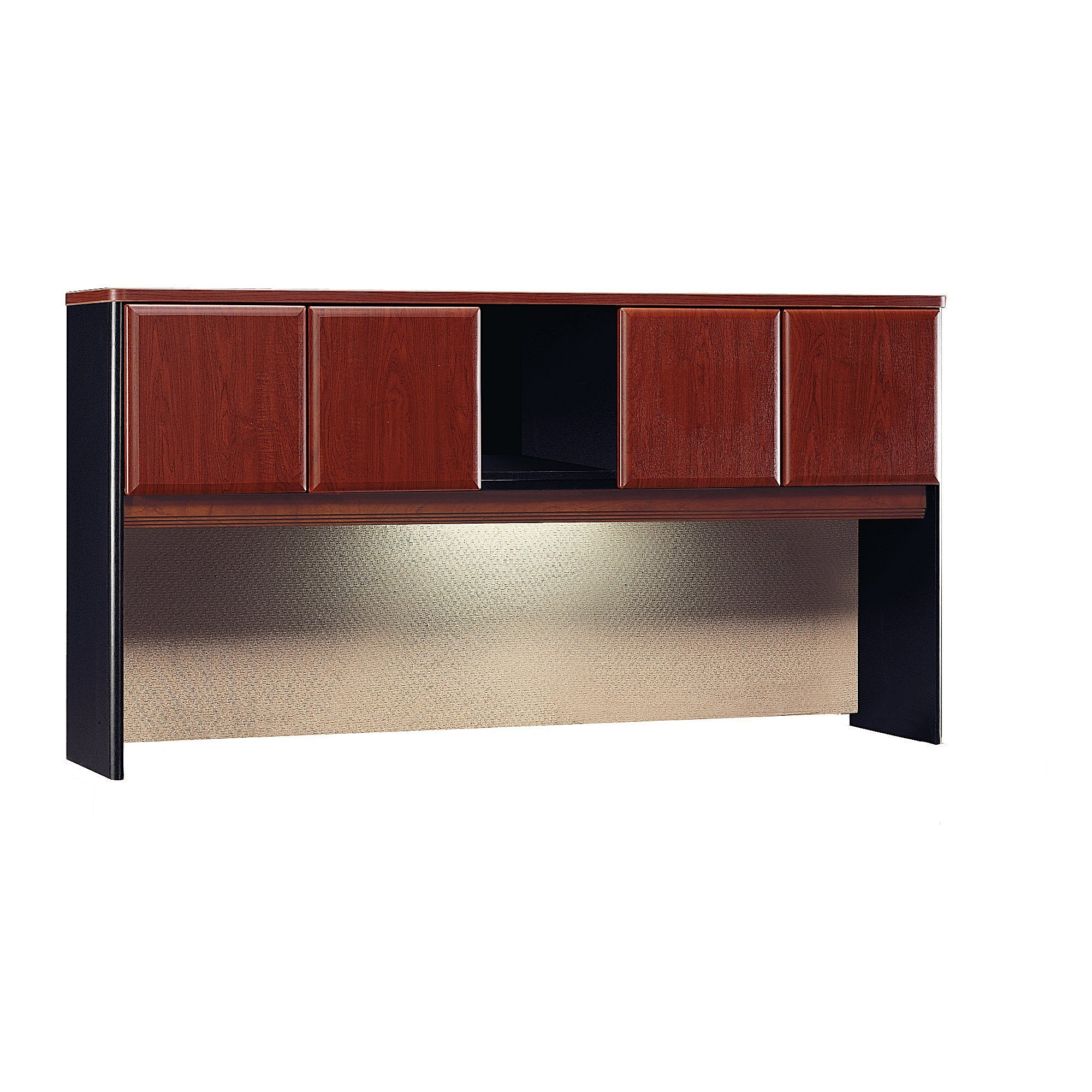 Bush Business Furniture Series A 72W Hutch - Hansen Cherry/Galaxy 72W X 14D X 37H Ergonomichome American Made TAA Compliant
