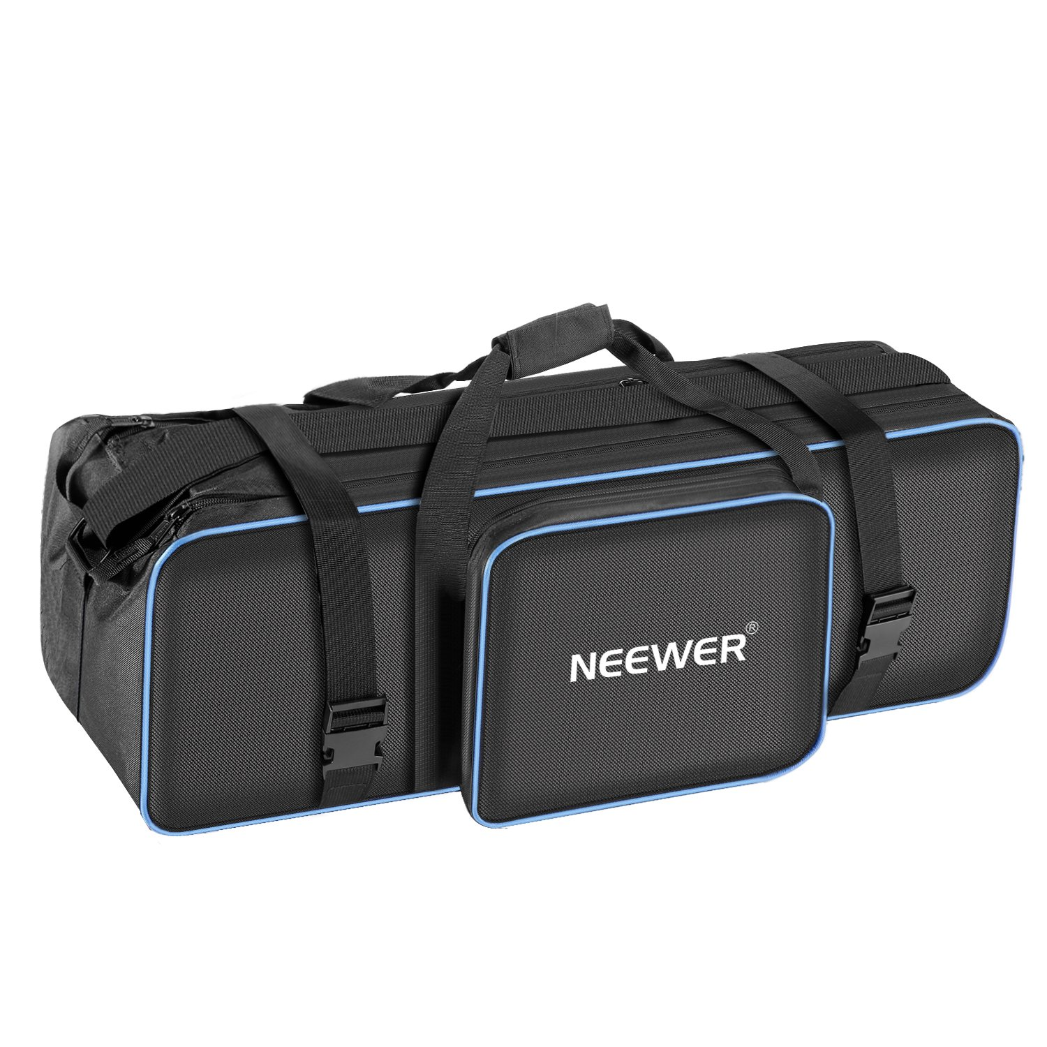Neewer Large Photo Studio Photography Carrying Case Bag 29.1x10.6 x 9.84 inches with Shoulder Strap and Handle for Light Stand, Tripod, Umbrella, LED Light, Flash and Other Accessories (Black/Blue) by Neewer