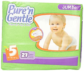 Pure n Gentle Ultra Diapers with Stretch Hook & Loop Closure System, Extra Large