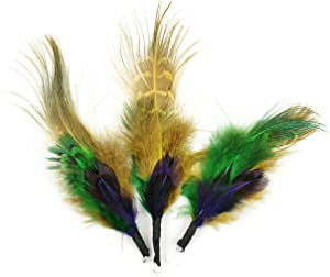 Touch of Nature 38117 Feather Pick, 3-1/2-Inch, Mardi Gras
