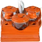 Sukhson India All In One Pickle Jars, Salt Pepper Dispensers, Tissue Napkin Holder And Toothpick Holder