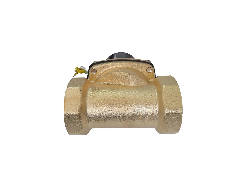 2 Inch 110V AC Brass Electric Solenoid Valve 110 VAC 120 Volt JEM/&JULES