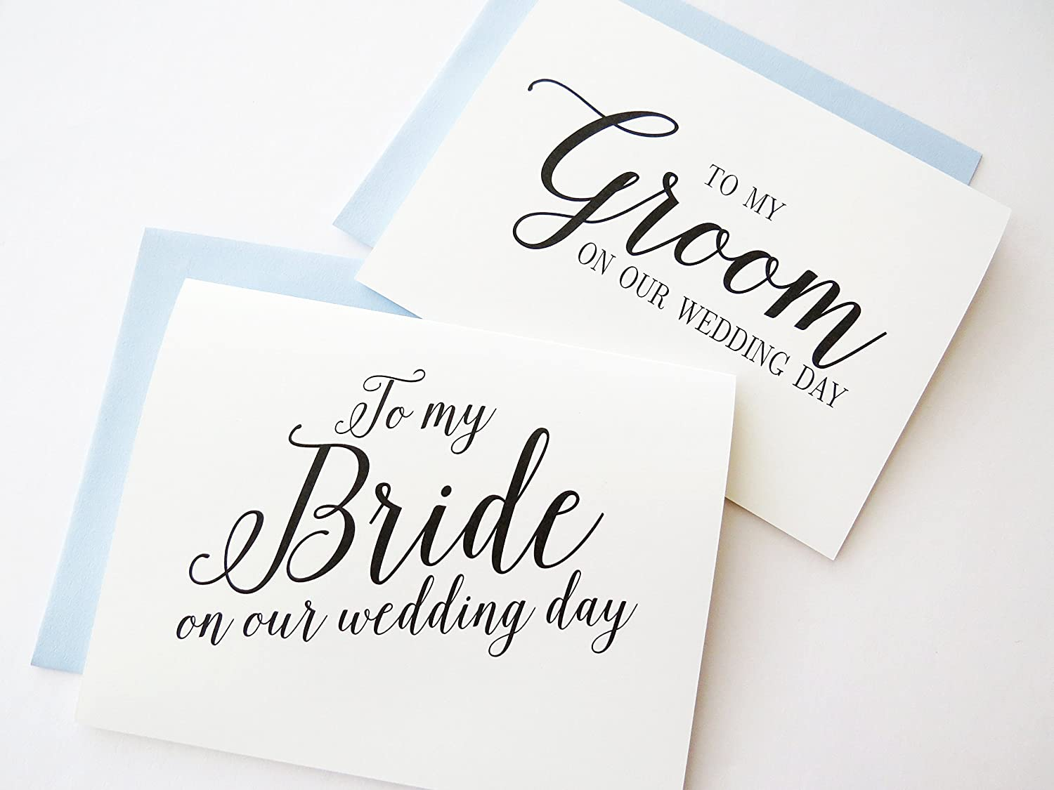 To My Bride On Our Wedding Day To My Groom On Our Wedding Day