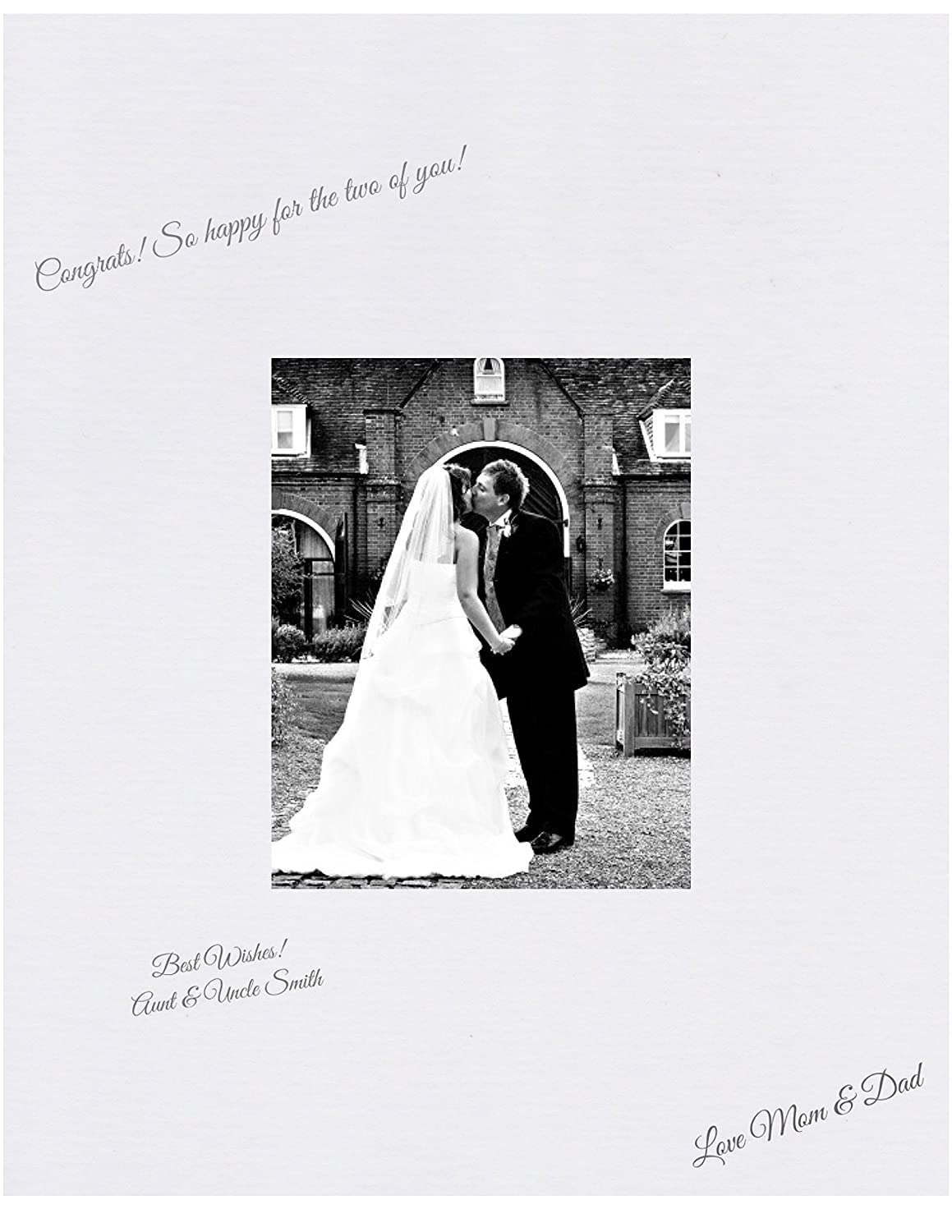 Weddings Reunions 18x24 White Signature and Autograph Picture Mat for 11x14 picture Baby Showers