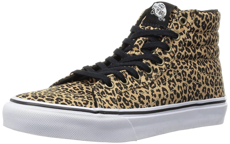 vans zwart leopard