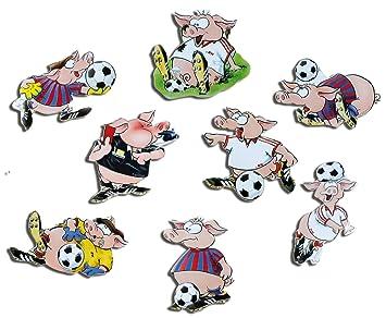 Kuhlschrankmagnete Fussball Schweine Magnete Fur Magnettafel Kinder Stark 8er Set Comic Mit Motiv Tiere Lustig
