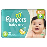 Diapers Size 2, 37 Count - Pampers Baby Dry Disposable Baby Diapers, Jumbo