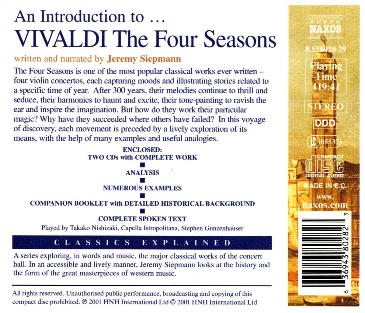 7987127c964c ANTONIO VIVALDI - Introduction to Vivaldi  Four Seasons - Amazon.com Music