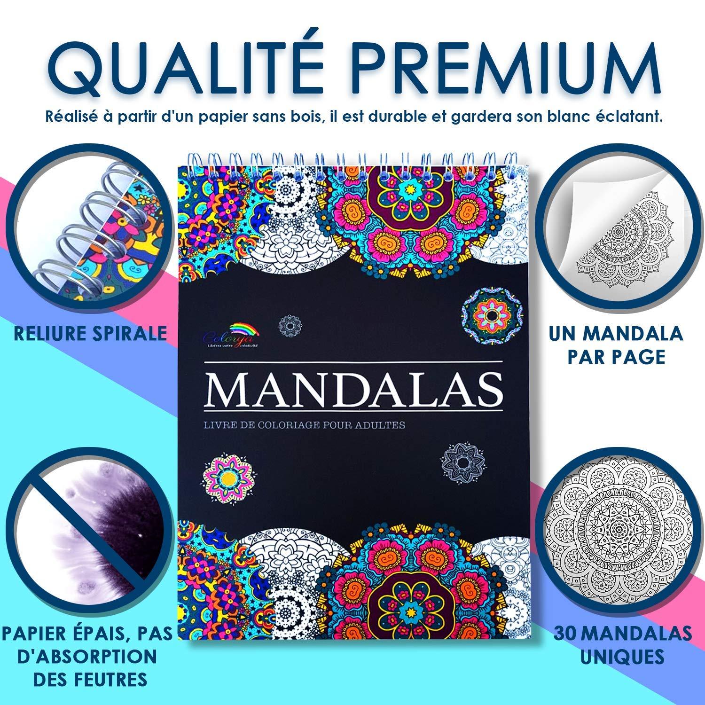 Coloriage Adulte Spirale.Livre De Coloriage Adultes Mandalas Anti Stress Le Premier Cahier