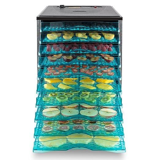 Klarstein Fruit Jerky 10 • Desecadora • Deshidratadora • Secadora de Fruta y Carne • 10 Pisos • Montaje por inserción • Circulación de Aire • Temperatura ...