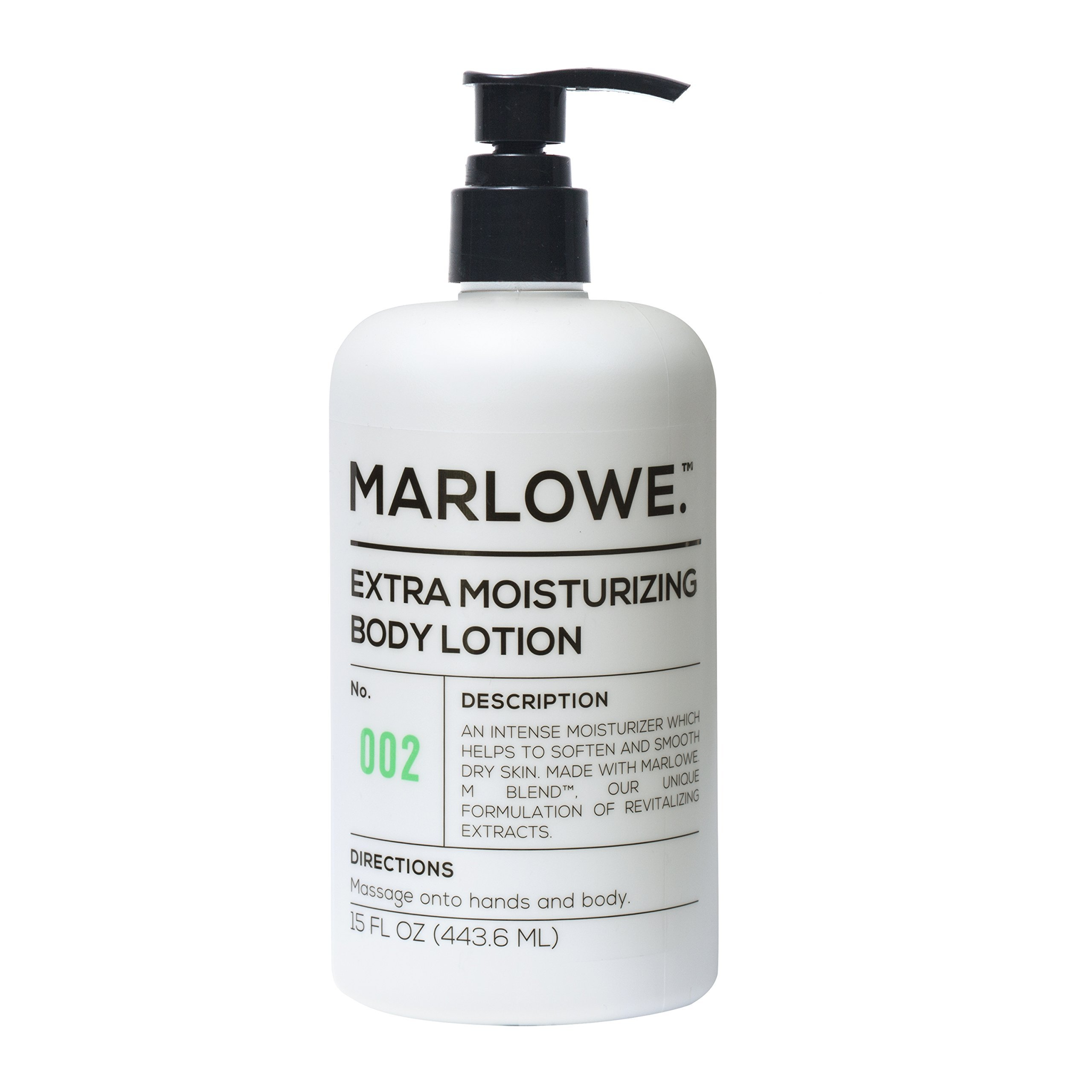 MARLOWE. 002 Extra Moisturizing Body Lotion 15 oz | Daily Lotion for Dry Skin for Men and Women | Light Fresh Scent | Made with Natural Ingredients | Vegan & Cruelty-Free by Marlowe (Image #1)