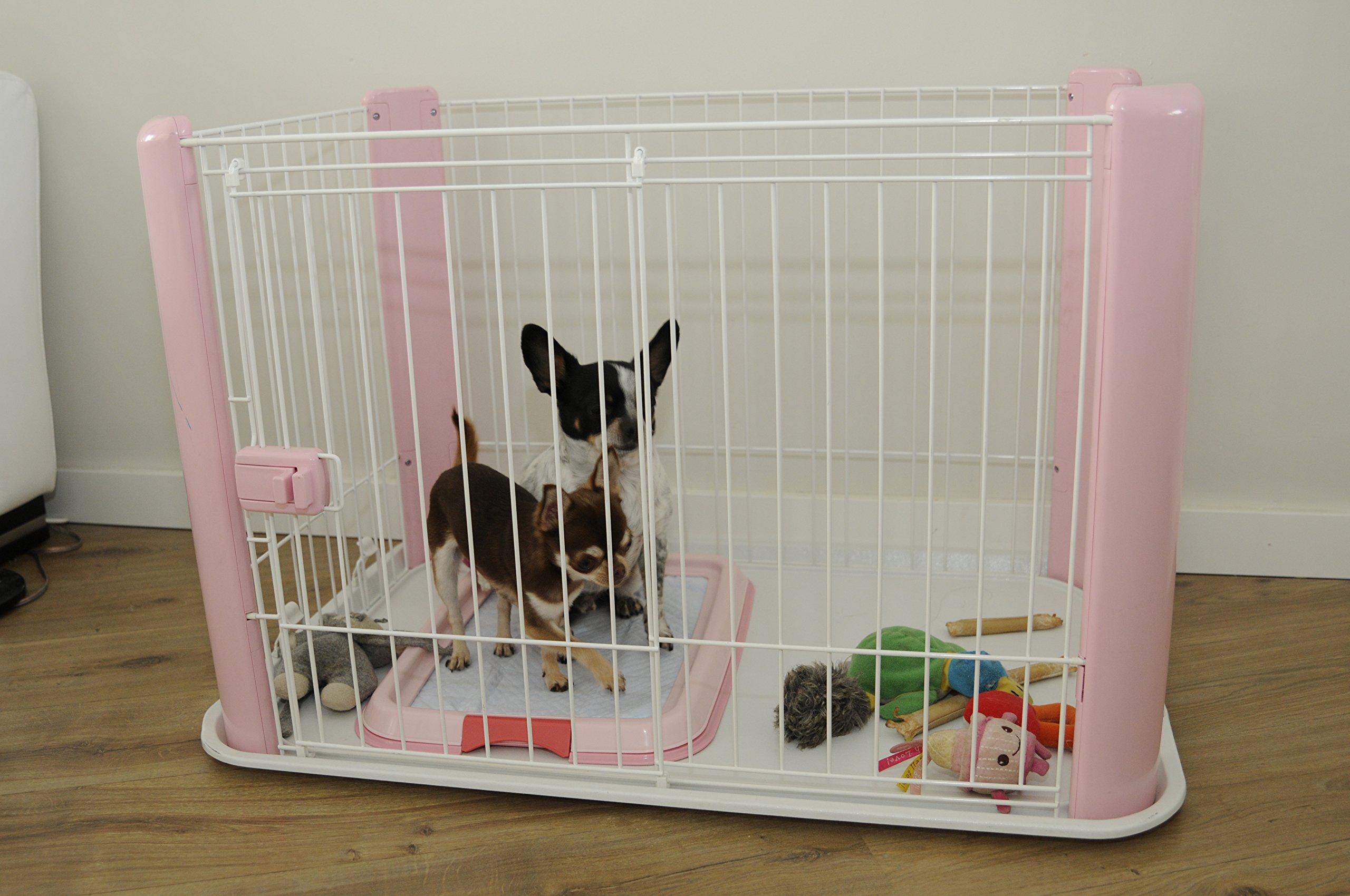 IRIS Ohyama Pet Playpen CLS-960, Small, Pink by IRIS (Image #1)