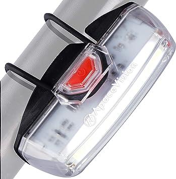 Luz Bicicleta Delantera Recargable USB de Apace - Potente Foco LED ...