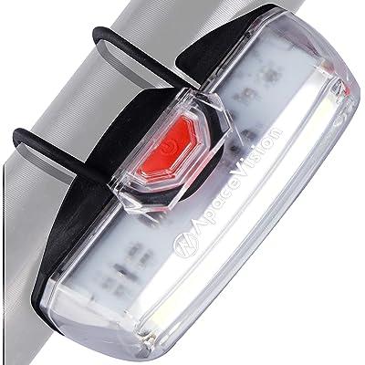 Luz Bicicleta Delantera Recargable USB de Apace - Potente Foco LED Faro de Seguridad para Bici - Super Brillante 200 Lúmenes para una Visibilidad Optima en Bicicleta