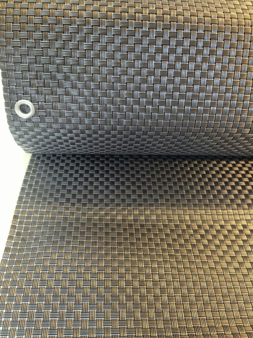 Smart Deko 78902 Silber&Anthrazit 6x0,9m Polyrattan Sichtschutz, Balkonsichtschutz, Windschutz, Balkonblende, Garten Sichtschutz, (Silber&Anthrazit)) (600x90cm)