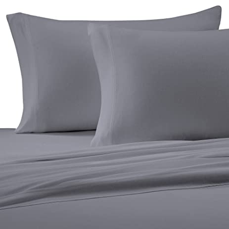 Brielle Cotton Jersey Knit (T Shirt) Sheet Set, Queen, Grey