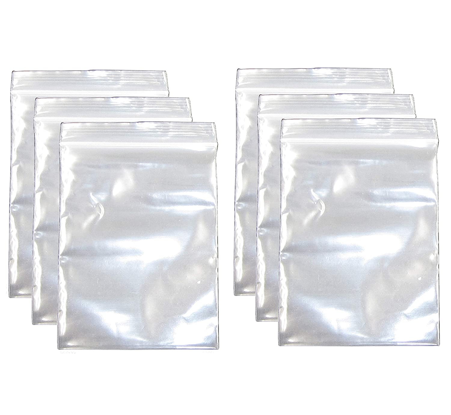 1.9x2.7 Inch, 600 Pack, Small Clear Resealable Zipper Poly Bags 2 Mil Thick, Food Grade Safe Reclosable Zipper Storage Plastic Bags for Jewelry,Candy,Beads etc JBingGG