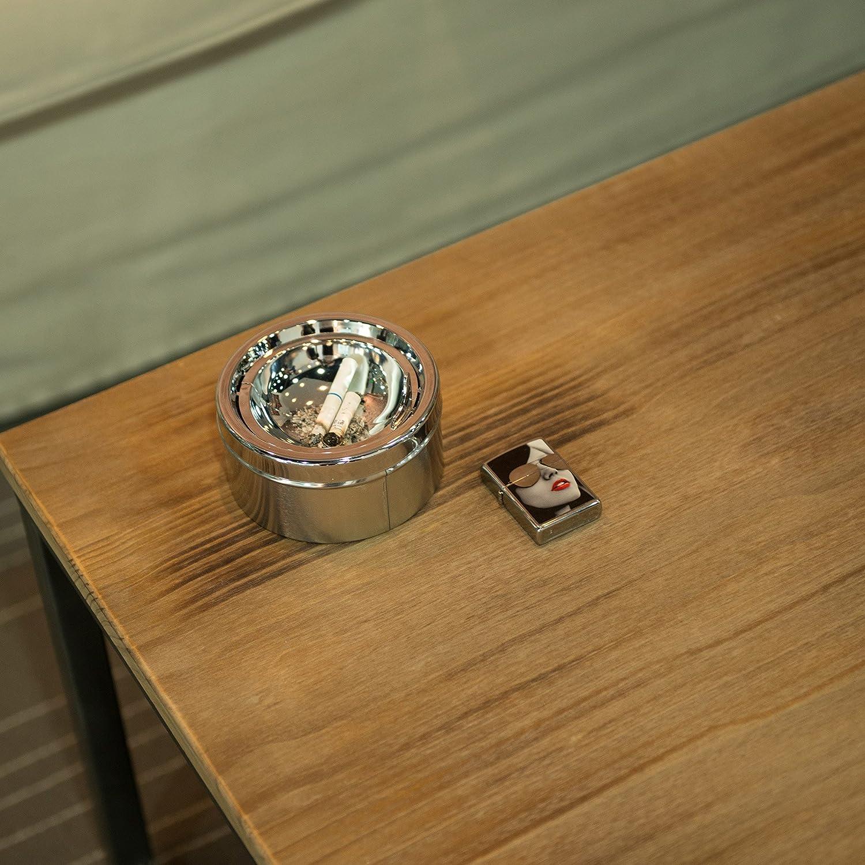 Blanco Sfeomi Cenicero de Pie de Acero Inoxidable Cenicero Exterior de Pie con Tapa 60cm Cenicero de Pie para Interior con Caja de Cigarrillos para Hotel Jard/ín Terraza Centro Comercial