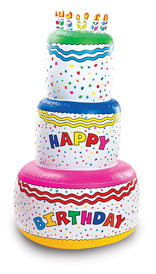 Image Unavailable Not Available For Color Fun Express Jumbo Happy Birthday Inflatable Cake Party Decoration