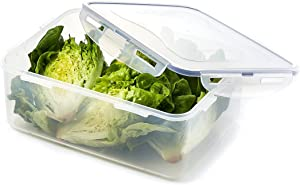 LOCK&LOCK HPL836 Easy Essentials Food, 186-Ounce Storage Container, 23.25-cup, Clear