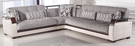 Amazon.com: Natural Sectional Sofa | Valencia Gray: Home ...