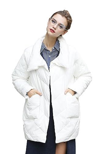 YOU.U Abrigo Acolchado Invierno con Botones Ocultos para Mujer - 4 Colores