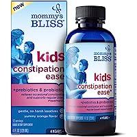 Mommy's Bliss, Kids Constipation Ease with Prebiotics and Probiotics Ages 4+ Fluid Ounces, Orange, 4 Fl Oz
