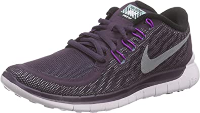 Nike Wmns Free 5.0 Flash, Zapatillas de Running para Mujer, Morado (NBL Purple/Rflct Slvr-Vvd Prpl), 36 EU: Amazon.es: Zapatos y complementos