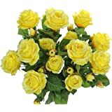 Mini Rosebud Artificial Flower Bunch x 15 heads 30cm//12 Inches Red