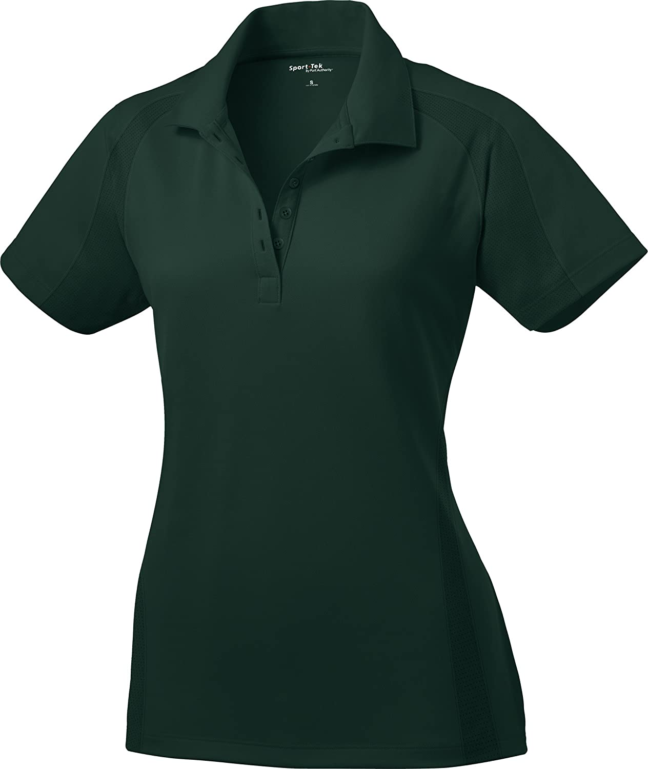 Sport-Tek Ladies Dri-Mesh Pro Performance Polo Shirt L474 XL Dark Green