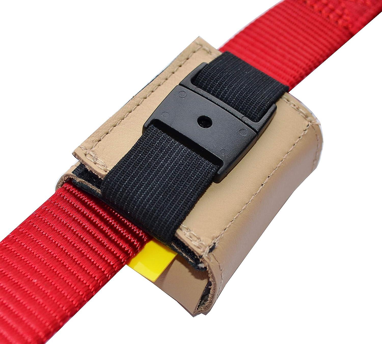 f/ür GPS-Tracker 51x41x15mm mit Klett- und Steckverschluss Nappaleder schwarz oder braun josi.li Trackertasche Bestickt Stickgarnfarbe w/ählbar