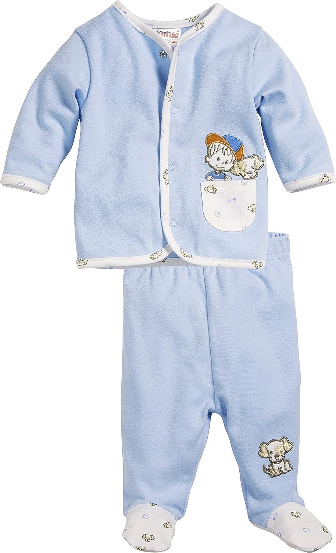Schnizler Baby - Jungen Jogginganzug Hündchen, 2-teilig Sweatjacke und Strampelhose, Oeko-Tex Standard 100 Playshoes GmbH 812103