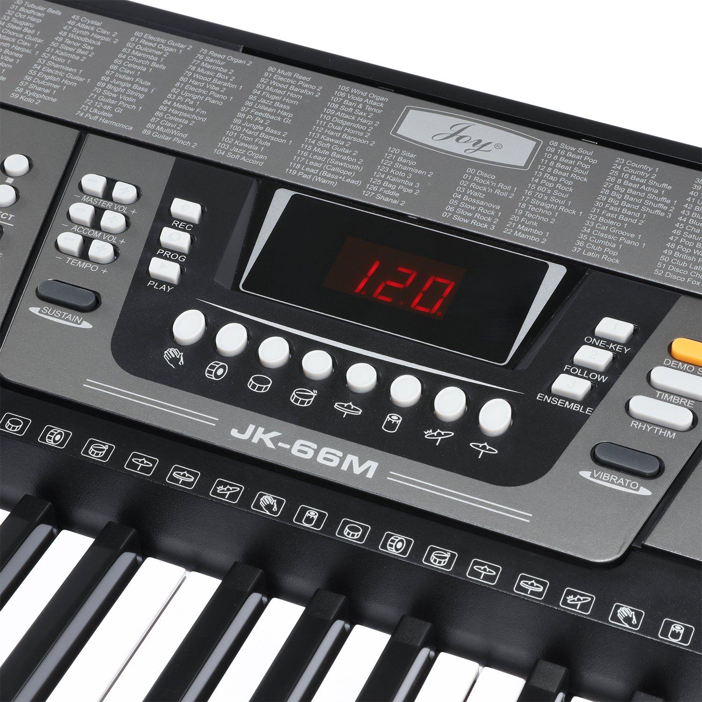 Amazon.com: Joy 61-Key Simulation Piano Electronic Keyboard for Beginners (JK-66M: Musical Instruments
