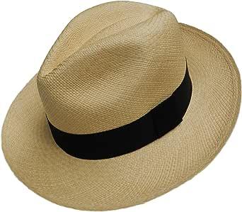 Equal Earth Nuevo Sombrero Panamá genuino banda negra Rolling plegable auténtico y comercio justo - Natural