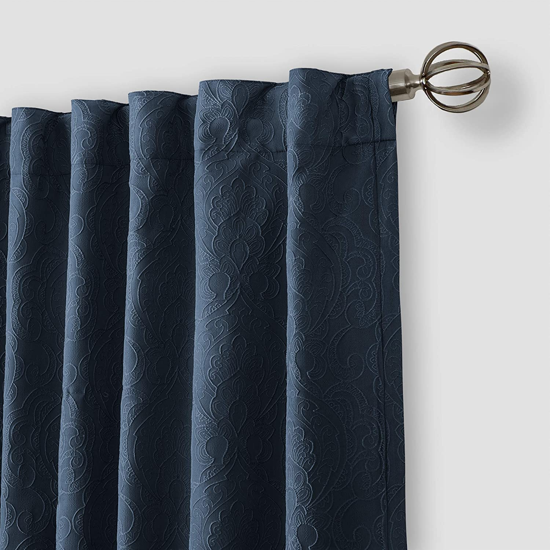 1 52x84 Ecru Elrene Home Fashions Elrene Leila Matelasse Single Blackout Window Curtain Panel Beige