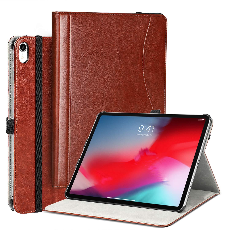 世界の LTROP プレミアムレザーカバーケース iPad iPad Pro 11インチ 2018年発売タブレット用 ビジネススリムフォリオカバー 自動ウェイク/スリープ機能付き 11インチ ブラウン ペンシルホルダー 複数のビューアングルケースカバー iPad Pro 11インチ 2018年用 ブラウン B07KTQL92N, 八坂村:bd16e861 --- a0267596.xsph.ru