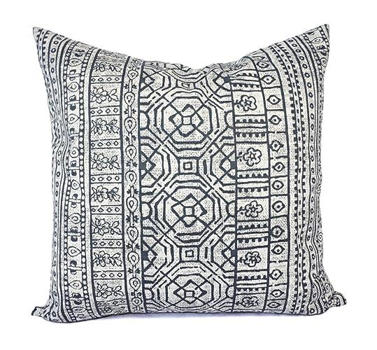 7b31d3e937e Charcoal Pillows - Grey and White Tribal Pillow Cover - Custom Pillow Sham  - Decorative Pillow Case - 16 x 16 Inch 18 x 18 Inch 20 x 20 Inch Throw  Pillow