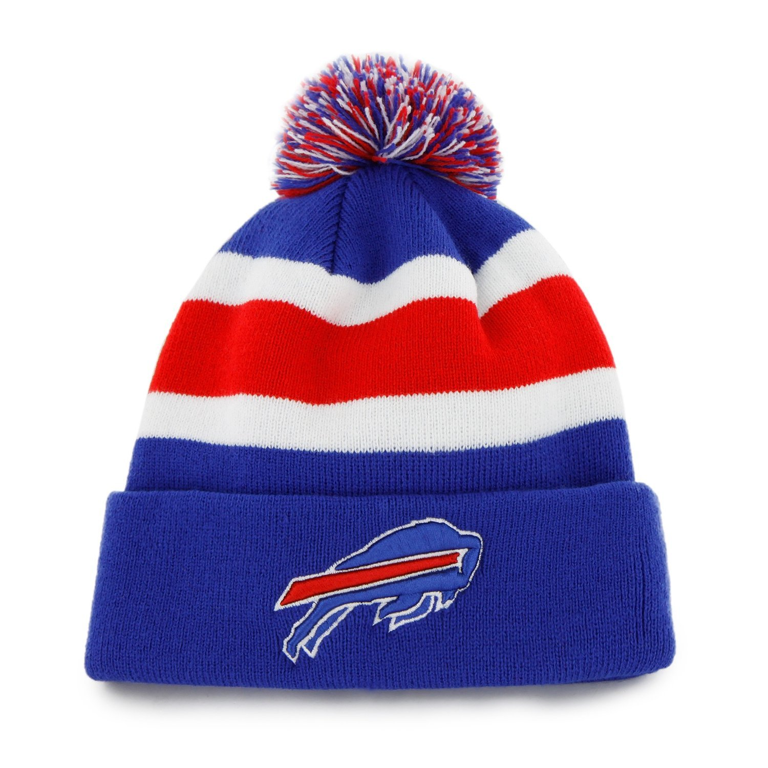 Amazon.com    47 Buffalo Bills Blue Cuff Breakaway Beanie Hat with Pom -  NFL Cuffed Winter Knit Toque Cap   Sports   Outdoors f3f3fb93335
