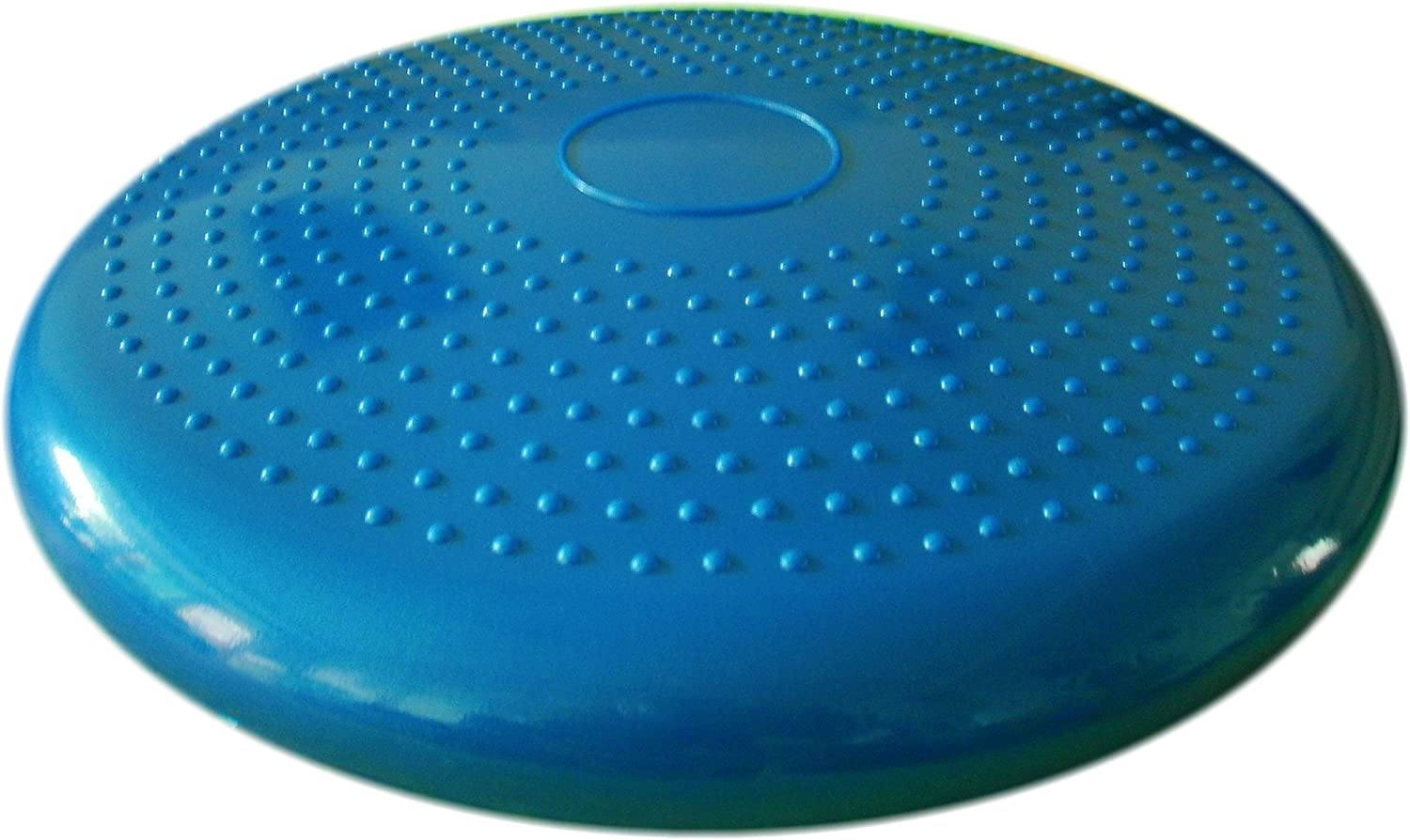 AppleRound Air Stability Wobble Cushion, Blue, 35cm 14in Diameter, Balance Disc, Pump Included