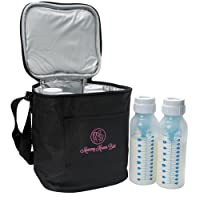 Extra Tall Breast Milk Baby Bottle Cooler Bag For Insulated Breastmilk Storage w/ Air Tight Design to Lock in the Cold & Preserve Important Nutrients for Your Baby (Fits up to 250 ml / 8 Oz. Bottles)