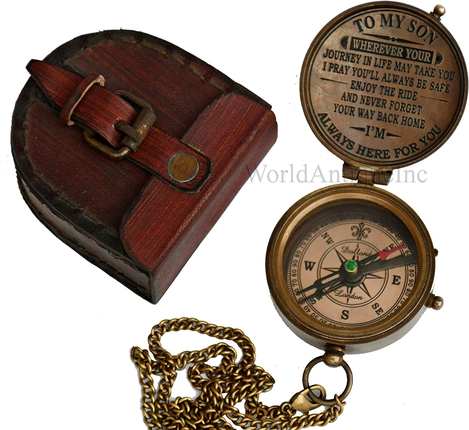 to My Son Personalized Compass with Case//Gift for Son//to My Son Gifts//Mom to Son Gift