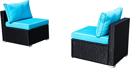 2 Pcs Outdoor Patio Furniture Set Blue
