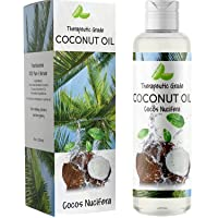 Fractionated Coconut Oil for Hair Care - Pure Coconut Oil Liquid Hair Treatment with Anti Aging Body Oil for Dry Skin Care - Coconut Oil for Skin Massage Oil and Carrier Oil for Essential Oils - 8 oz