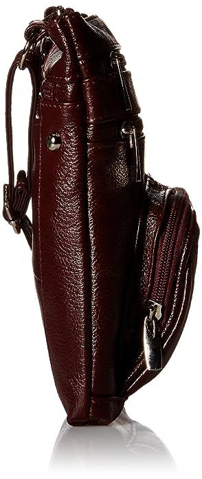 Amazon.com: Bolsa de piel auténtica para mujer con diseño de ...