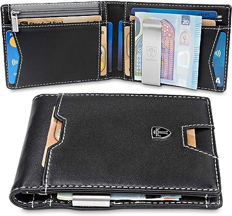 Chawki AMARI Porte-monnaie avec RFID Protection Porte-monnaie Portefeuille Nappaleder Femmes Hommes
