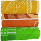 RBK Multicolor Cotton Printed Bath Towels (Pack of 3)
