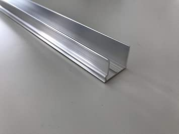 Alu Tropfkantenprofil f/ür Stegplatten Pressblank 16mm 980mm