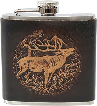 Honest Flasque de Luxe pour Whisky Vodka 200 ML Motif cerf