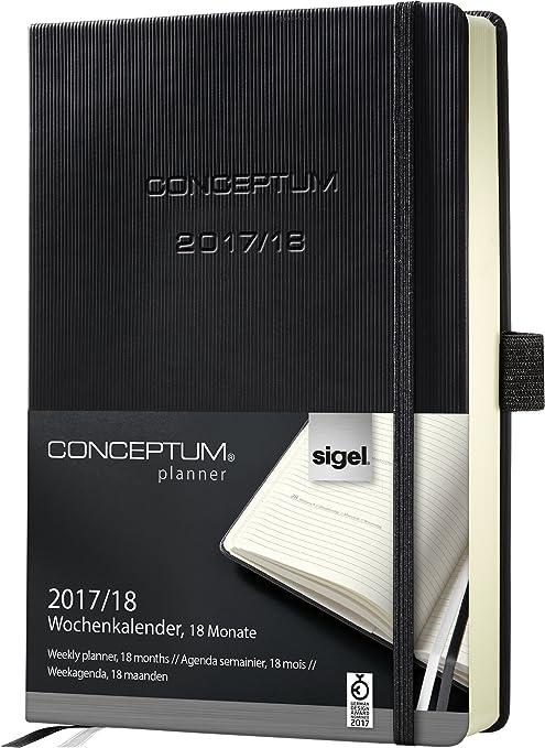 Amazon.com : Sigel C1801 Academic Calendar 2017-2018, 18 ...