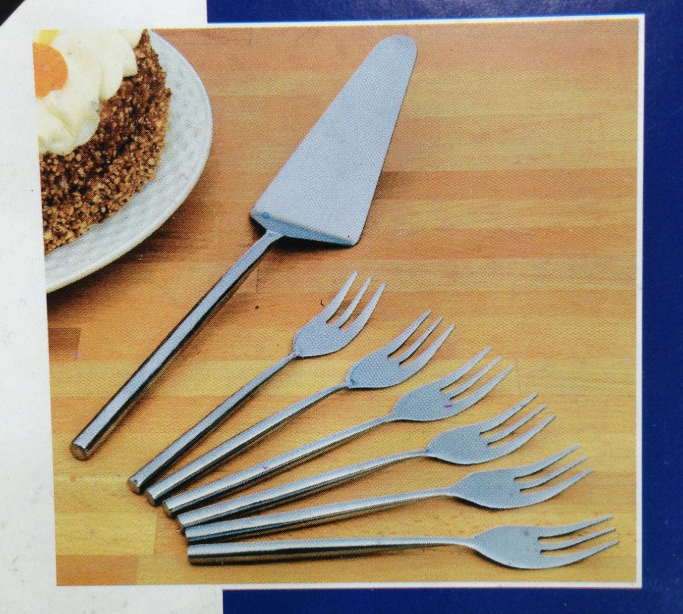 Cake Server and 6 Forks - High Quality Stainless Steel - Cake Cutlery Set